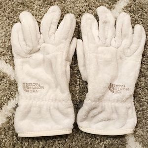 The North Face White Osito Gloves - Small